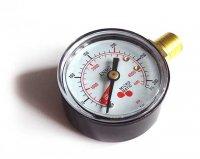 Manometr MM, tlak v lahvi CO2,N2