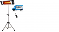 Venkovní tepelný zářič PHA-3000 + stojan + dálkové ovládání + doprava ZDARMA